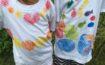 サンゴ染めTシャツのワークッショップ